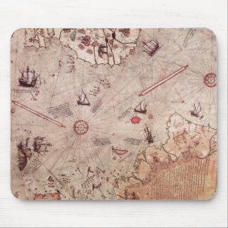 Piri Reis Old World Map Mouse Pad
