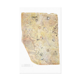Piri Reis' World Map Canvas Poster