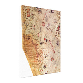 Piri Reis World Map Canvas Print