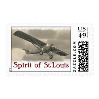 pirit of St.Louis Postage Stamps