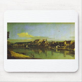 Pirna Seen from the Right Bank of the Elbe by Bern Mouse Pad