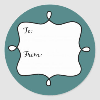 Pirouette Gift Tag Round Stickers