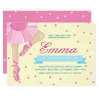 Pirouette Pink Ballerina Birthday Invitation