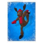 Pirouetting Whimsical Reindeer Card