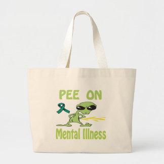 Pis en bolso de la enfermedad mental bolsas de mano