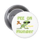 Pis en el botón del hambre pin