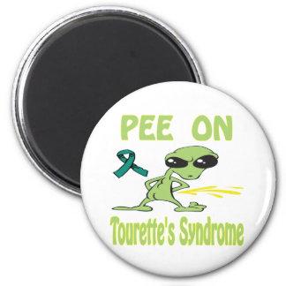Pis en el imán del síndrome de Tourette