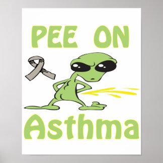 Pis en el poster del asma
