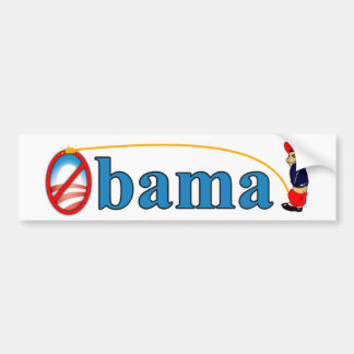 Pis en Obama Pegatina Para Auto