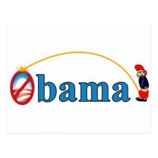 Pis en Obama Tarjetas Postales