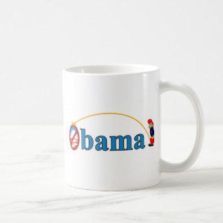 Pis en Obama Taza