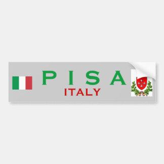 Pisa Bumper Sticker Car Bumper Sticker