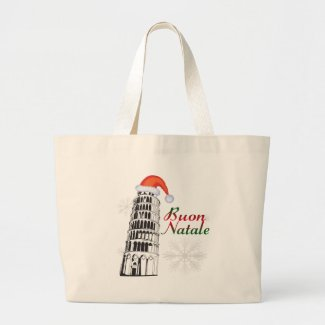 Pisa Buon Natale Canvas Bag
