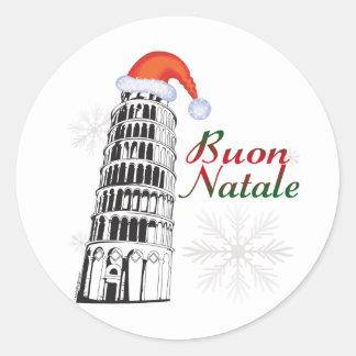 Pisa Buon Natale Stickers