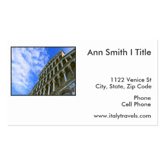 Pisa Cathedral with Love Quote Business Card