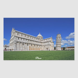 Pisa, dei Miracoli de la plaza Pegatina Rectangular