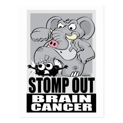 Pisa fuerte hacia fuera el cáncer de cerebro tarjeta postal
