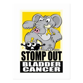 Pisa fuerte hacia fuera el cáncer de vejiga tarjetas postales