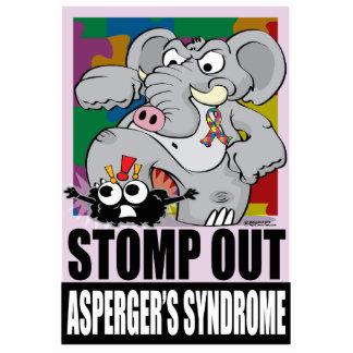 Pisa fuerte hacia fuera el síndrome de Asperger Fotoescultura Vertical