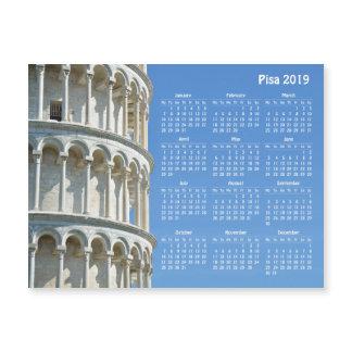 Pisa (Italy) 2019 calendar magnetic card