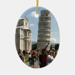 Pisa-italy--Angie.JPG Double-Sided Oval Ceramic Christmas Ornament