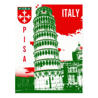 Pisa, Italy - The Leaning Tower Postcard