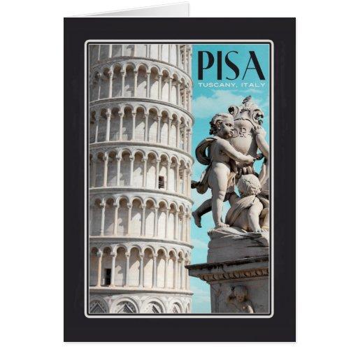Pisa - la torre inclinada tarjeta