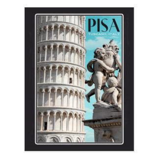 Pisa - la torre inclinada tarjeta postal