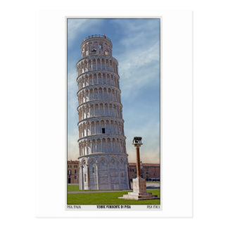 Pisa - la torre inclinada tarjetas postales