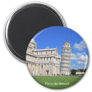 Pisa leaning tower 2 inch round magnet