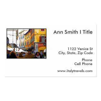 Pisa Market In Alley with Love Quote Business Card