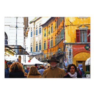 Pisa Market In Alley with Love Quote Card
