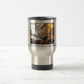 Pisa Market In Alley with Love Quote Mug