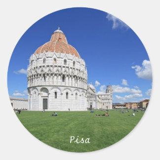 Pisa, Piazza dei Miracoli Classic Round Sticker