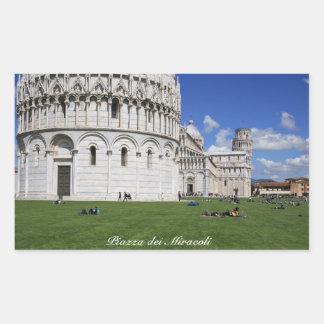 Pisa, Piazza dei Miracoli Rectangular Sticker