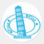 Pisa Stamp Classic Round Sticker