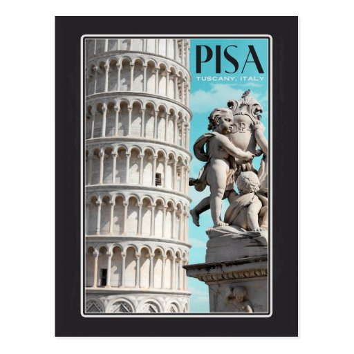 Pisa - The Leaning Tower Post Card