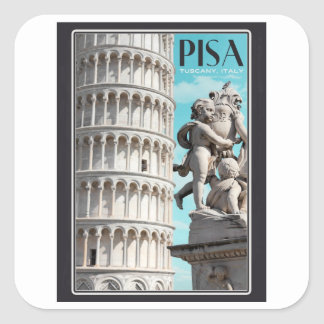 Pisa - The Leaning Tower Square Sticker