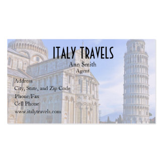 Pisa The Leaning Tower with Love Quote Business Card