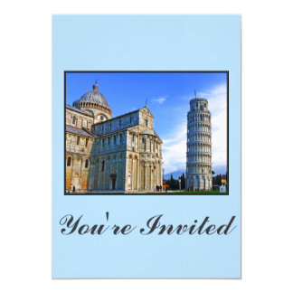 Pisa The Leaning Tower with Love Quote Card