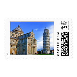 Pisa The Leaning Tower with Love Quote Stamps