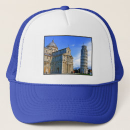 Pisa The Leaning Tower with Love Quote Trucker Hat