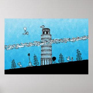 Pharos art framed artwork zazzle pisa tower poster malvernweather Images