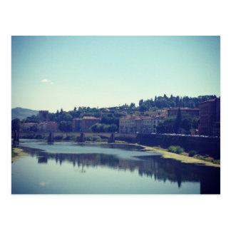 Pisa y el río tarjetas postales