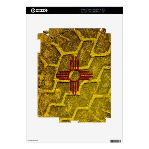 Pisada de la bandera de New México Skin Para El iPad 2