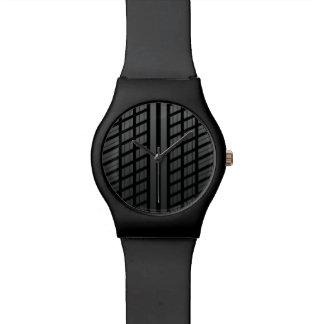 Pisada del neumático de coche relojes de pulsera