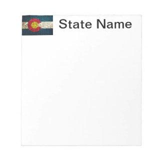 Pisada del neumático de la bandera de Colorado Blocs De Papel