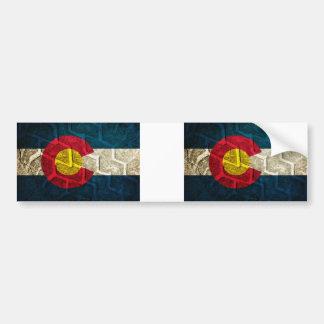 Pisada del neumático de la bandera de Colorado Pegatina Para Auto