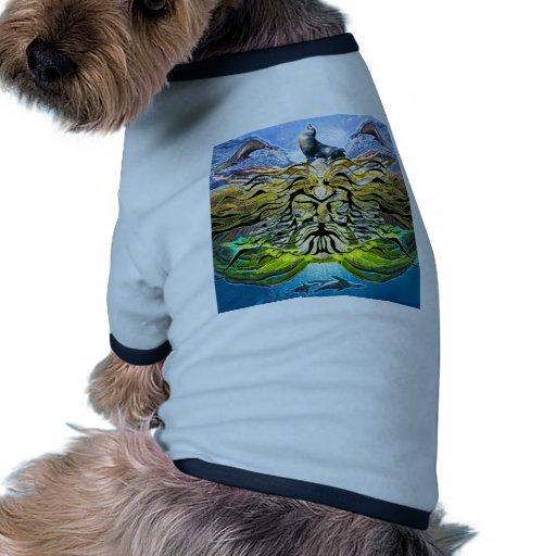 Pisada ligeramente camisetas de perro