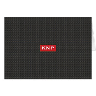 Pisada negra con monograma simple NoteCard Tarjeta